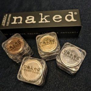 Naked Cosmetics 4 Loose Eye Shadows Neutral